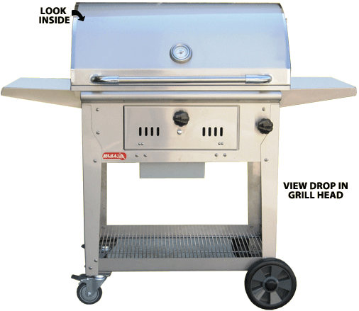 additional information - Stainless Steel Charcoal Grill