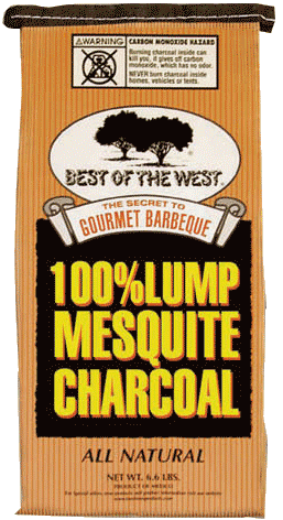 Mesquite lump charcoal